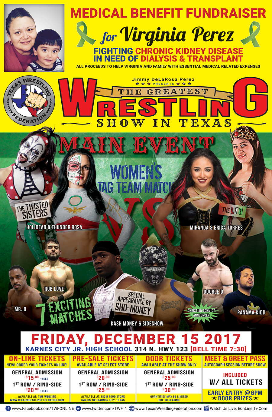 Texas Wrestling Federation - Karnes City - December 15th - Poster Image