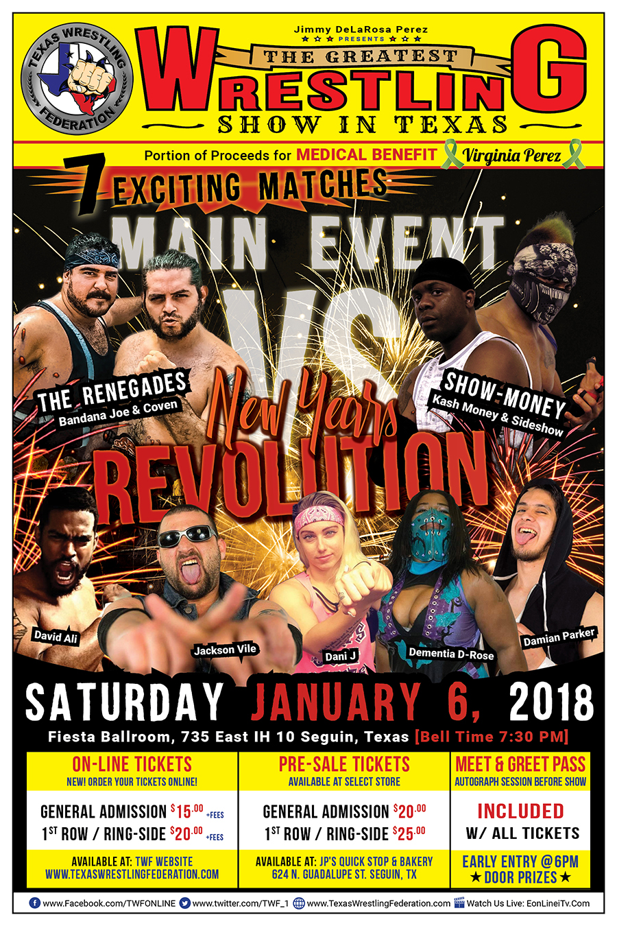 New Years Revolution - Jan 6 2018 - Segun, TX - Poster